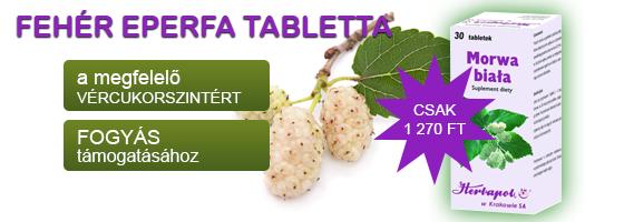 Fehér eperfa tabletta